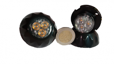 Pack 2X feux de pénétration Led SAE 12&24V Orange