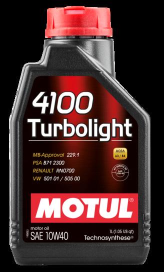 Motul 102774 4100 turbolight 10w40 1l