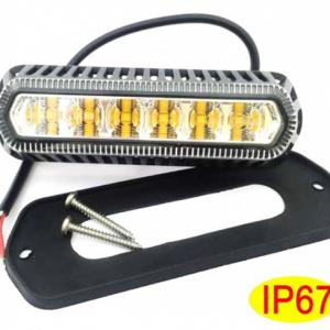 Warning lighthead 6 led amber